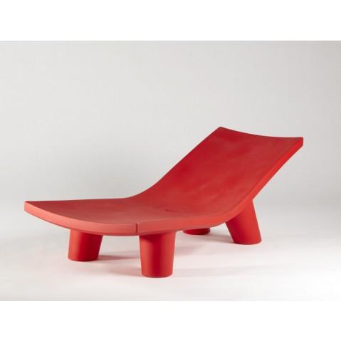 Chaise longue LOW LITA LOUNGE de Slide rouge