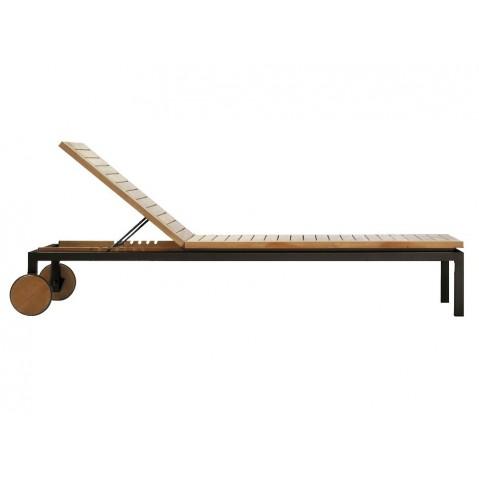 Chaise longue NATAL ALU TEAK de Tribù, Wengé