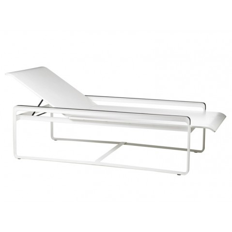 Chaise longue NEUTRA de Tribù, Blanc