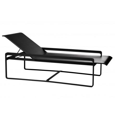 Chaise longue NEUTRA de Tribù, Noir