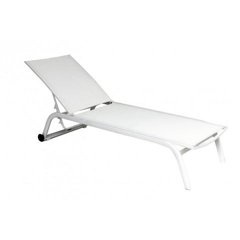 Chaise longue NINO blanc