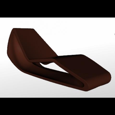 Chaise longue ORGANIC Qui est Paul Chocolat Coussin Gris