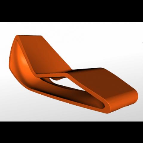 Chaise longue ORGANIC Qui est Paul Orange Coussin Gris
