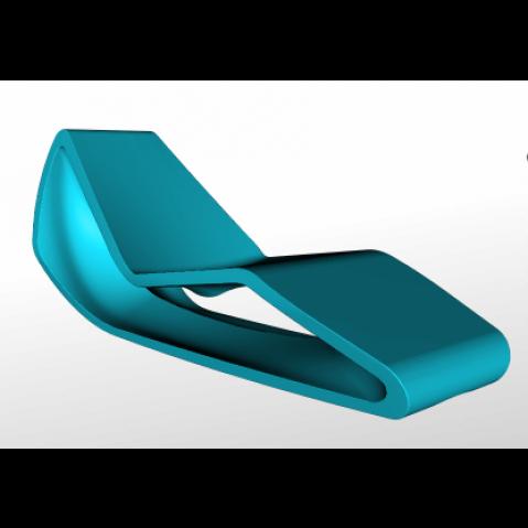 Chaise longue ORGANIC Qui est Paul Turquoise Coussin Gris
