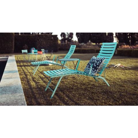Chaise longue pliante bistro de fermob tilleul for Bistro chaise longue
