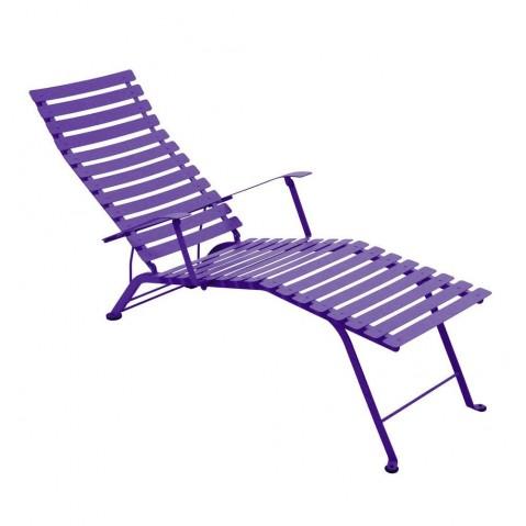 Chaise longue pliante BISTRO de Fermob aubergine