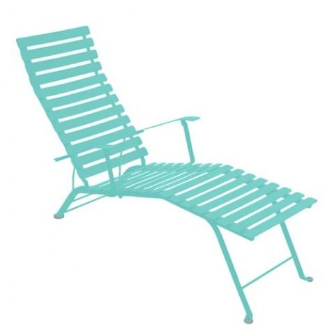 Chaise longue pliante BISTRO de Fermob Bleu lagune