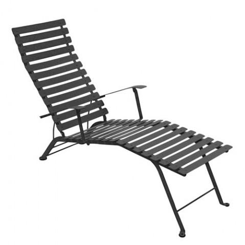 Chaise longue pliante BISTRO de Fermob, Carbone