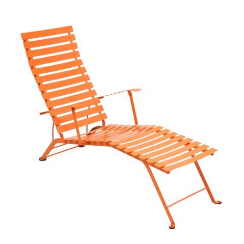 Chaise longue pliante BISTRO de Fermob carotte