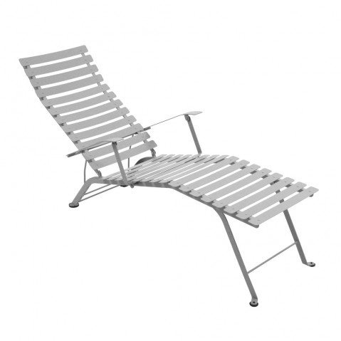 Chaise longue pliante BISTRO de Fermob, gris métal