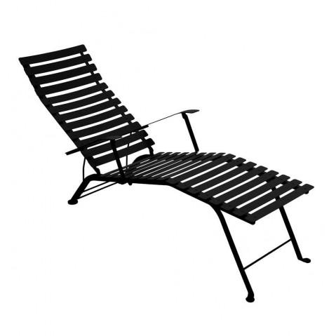 Chaise longue pliante BISTRO de Fermob, Noir Réglisse