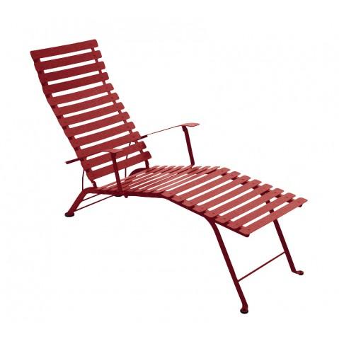 Chaise longue pliante BISTRO de Fermob, Piment