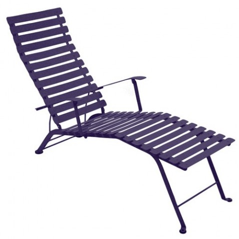 Chaise longue pliante BISTRO de Fermob, prune