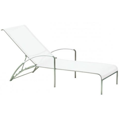 Chaise longue QT de Royal Botania, blanc electropoli