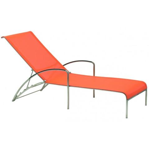 Chaise longue QT de Royal Botania, orange electropoli