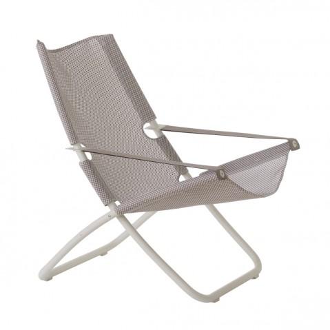 Chaise longue SNOOZE de Emu, gris/blanc