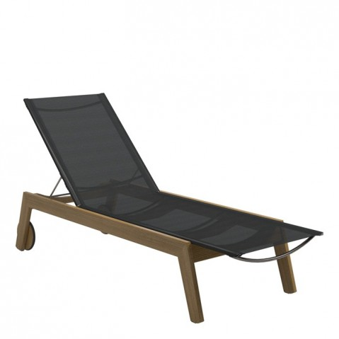 Chaise longue  SOLANA de Gloster, Anthracite