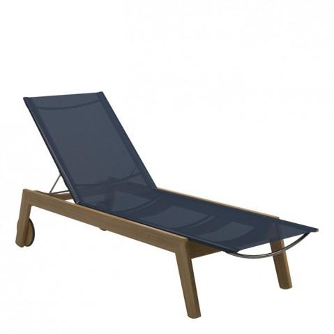 Chaise longue  SOLANA de Gloster, Bleu