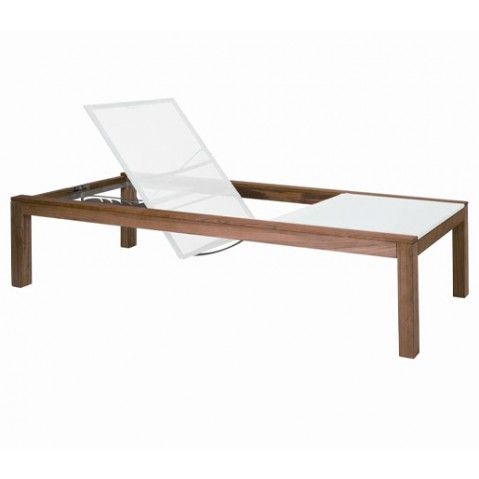 Chaise longue XQI de Royal Botania, Blanc