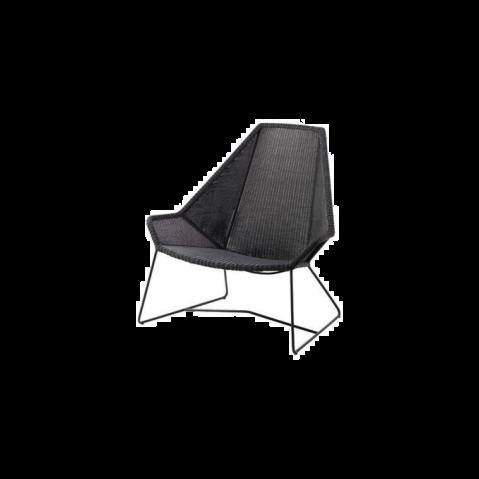 Chaise lounge dossier haut breeze de cane line noir