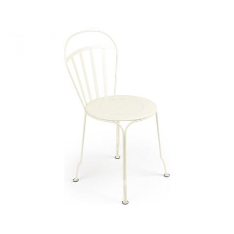 Chaise LOUVRE de Fermob blanc coton