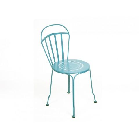Chaise LOUVRE de Fermob bleu turquoise