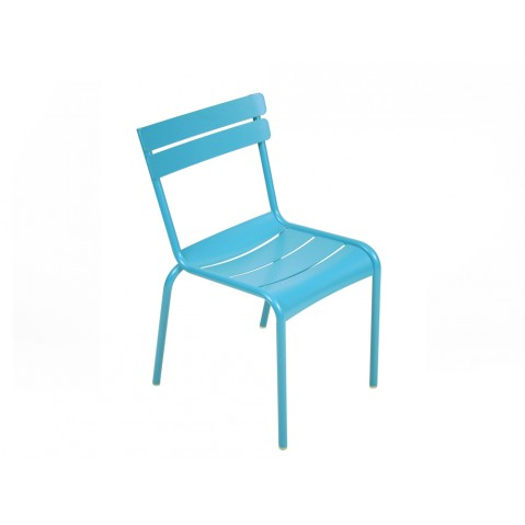 Chaise LUXEMBOURG de Fermob bleu turquoise