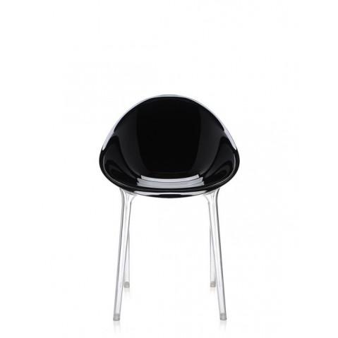 Chaise MR IMPOSSIBLE de Kartell, Noir-brillant