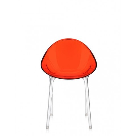 Chaise MR IMPOSSIBLE de Kartell, Rouge orangé