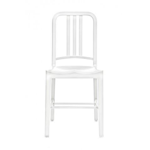Chaise NAVY 111 de Emeco blanc