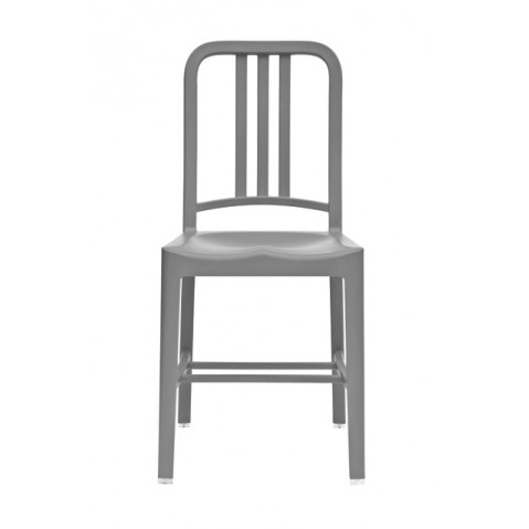 Chaise NAVY 111 de Emeco gris