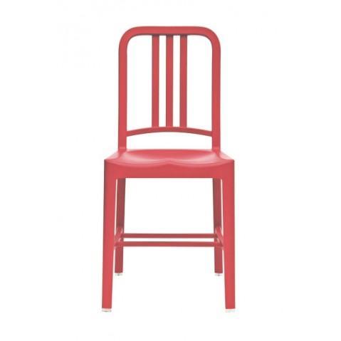 Chaise NAVY 111 de Emeco rouge