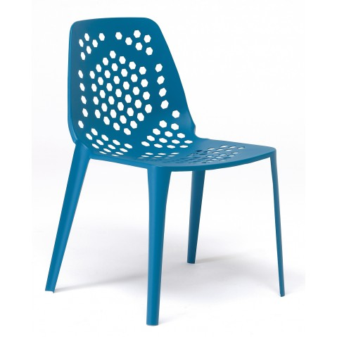 Chaise PATTERN de Emu, Bleu