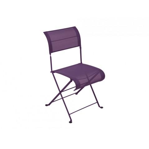 Chaise pliante DUNE de Fermob aubergine
