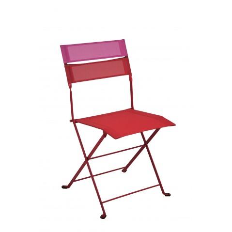 Chaise pliante LATITUDE de Fermob coquelicot