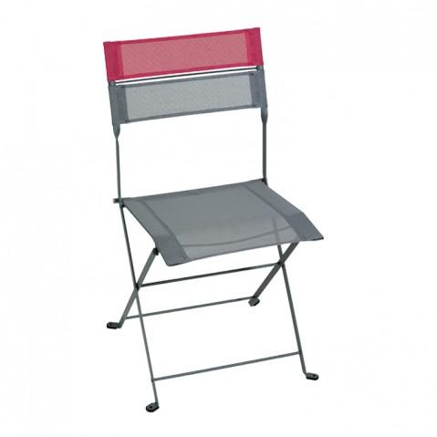 Chaise pliante LATITUDE de Fermob gris orage