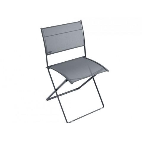 Chaise pliante PLEIN AIR de Fermob, Carbone