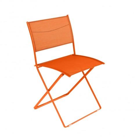 Chaise pliante PLEIN AIR de Fermob carotte