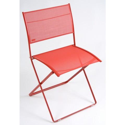 Chaise pliante PLEIN AIR de Fermob coquelicot