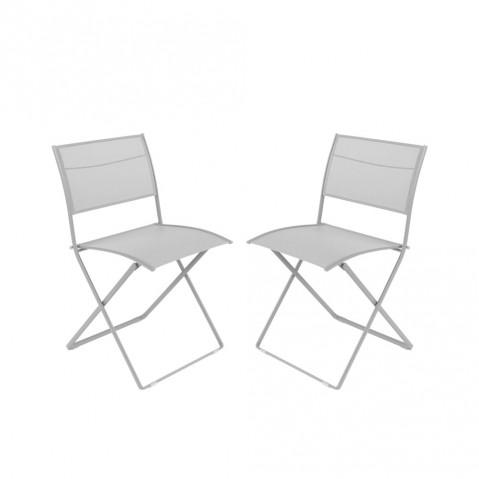 Chaise pliante PLEIN AIR de Fermob gris métal