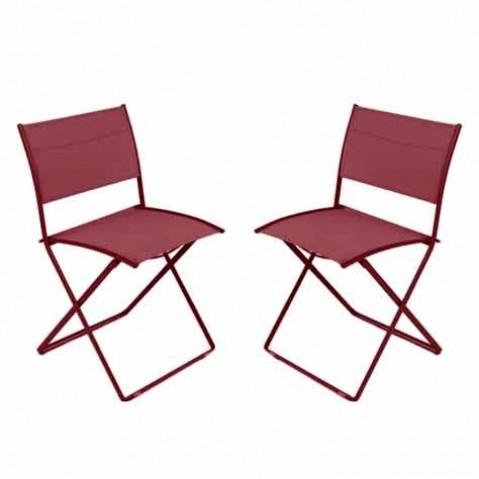 Chaise pliante PLEIN AIR de Fermob, Piment