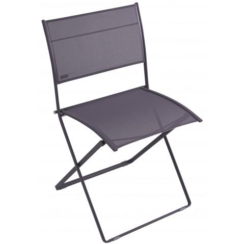 Chaise pliante PLEIN AIR de Fermob, Prune