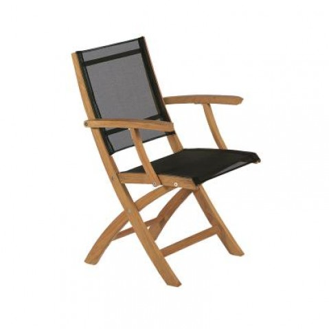 Chaise pliante XQI de Royal Botania, Noir
