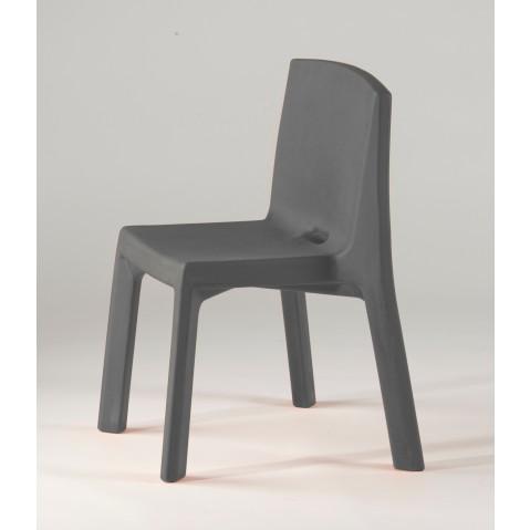 Chaise Q4 de Slide gris