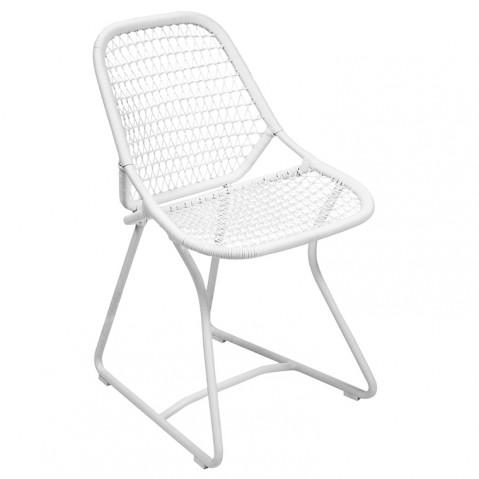 Chaise SIXTIES de Fermob, Blanc/Blanc