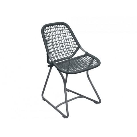 Chaise SIXTIES de Fermob, Gris orage/Ardoise