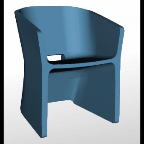 Chaise SLICED CHAIR Qui est Paul Bleu