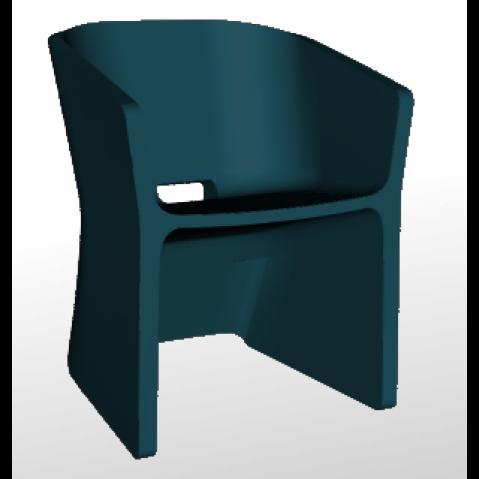 Chaise SLICED CHAIR Qui est Paul Bleu Nuit