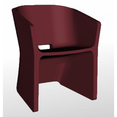Chaise SLICED CHAIR Qui est Paul Bordeaux