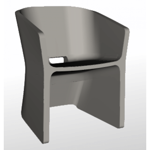 Chaise SLICED CHAIR Qui est Paul Gris